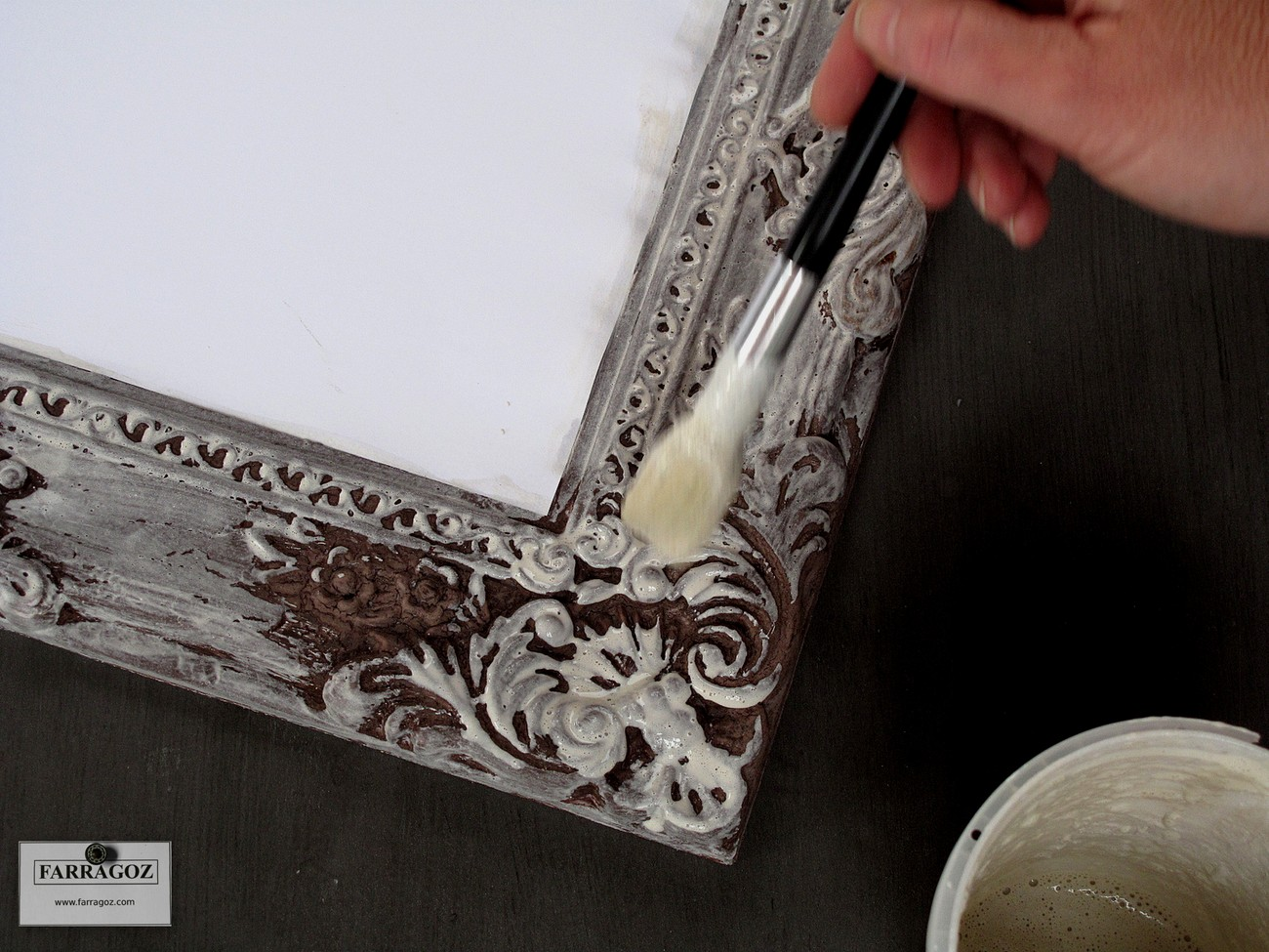 FARRAGOZ: How to paint a new plastic frame to look like an authentic ...