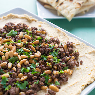 Hummus With Ground Lamb And Toasted Pine Nuts Recipe