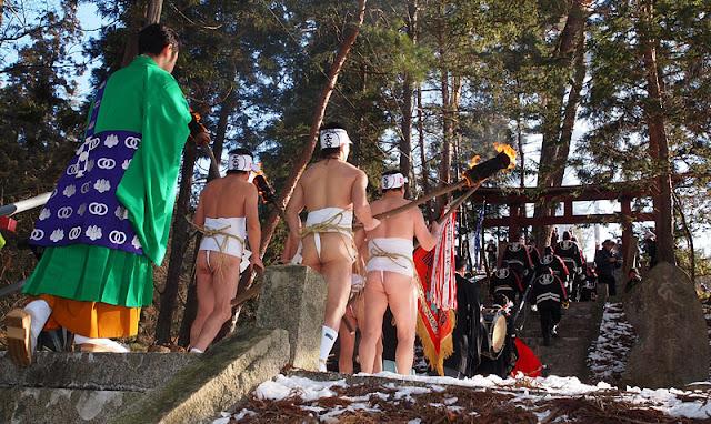 Godaison Sominsai (Naked Festival), Hanamaki City, Iwate Pref.