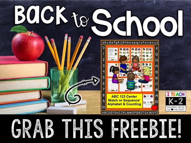 https://www.teacherspayteachers.com/Product/Back-to-School-FREEBIE-Alphabet-Counting-to-20-Literacy-Math-Center-CCSS-331665