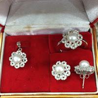 Jual Set Perhiasan Mutiara Perak