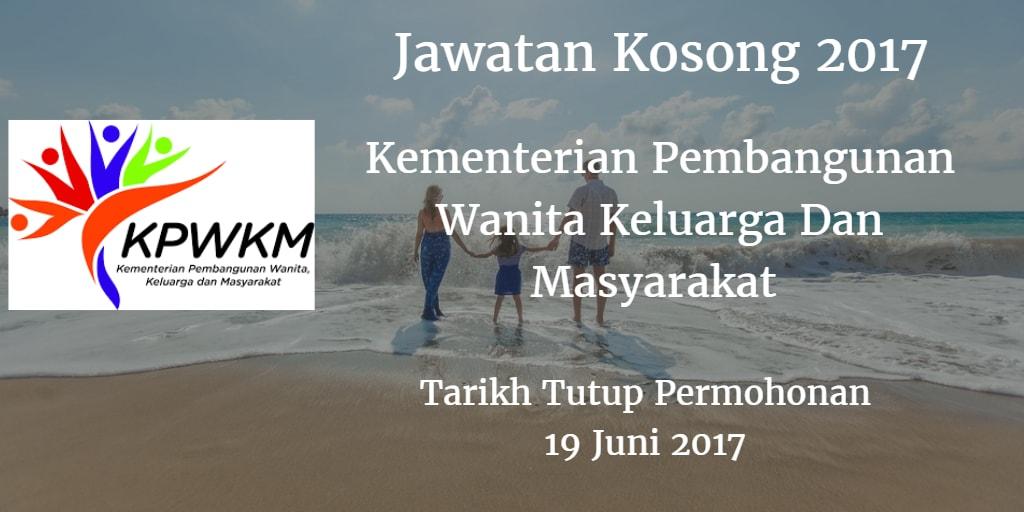 Jawatan Kosong KPWKM 19 Juni 2017