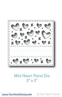Mini Heart Panel Die