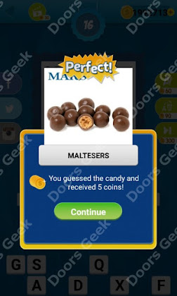 Answers, Cheats, Solutions for Guess the Candy Level 16 for android and iphone