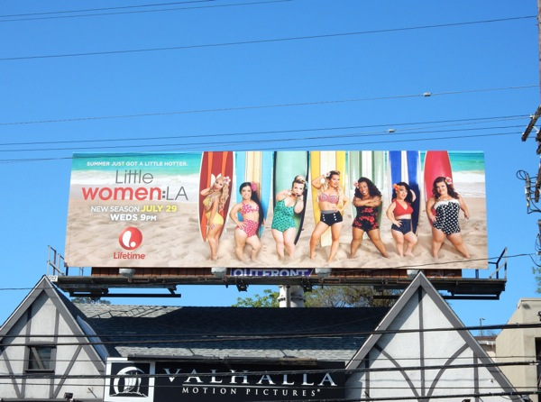 Little Women LA season 3 surfboard billboard