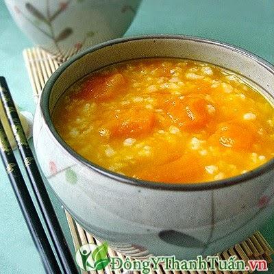 Cách chữa nóng trong người bằng cháo cà rốt