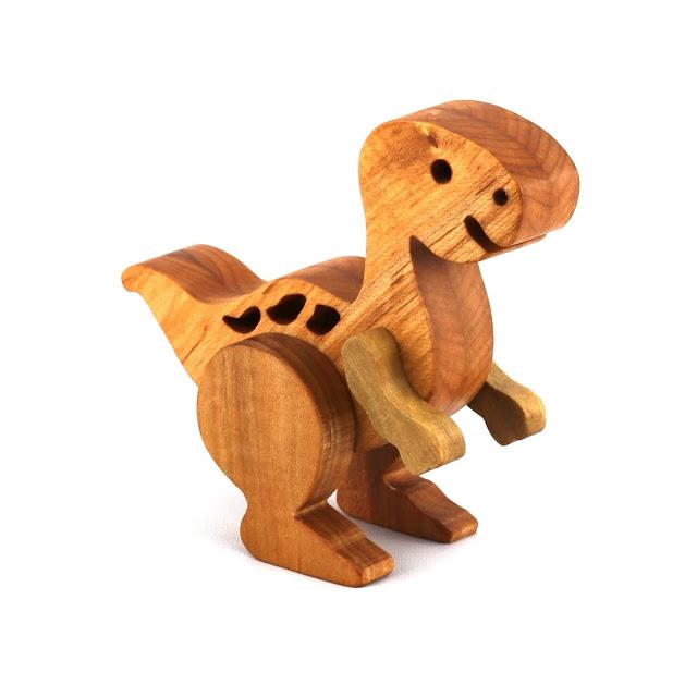 Handmade Wooden Toy - Baby Dinosaur
