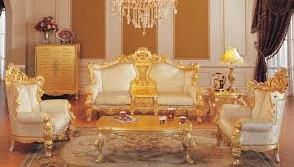 sofa tamu warna emas