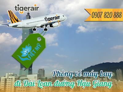 Phòng vé máy bay đi Đài Loan đường Hậu Giang