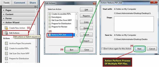 Run action for reduce PDF size