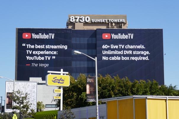 Giant YouTube TV billboard