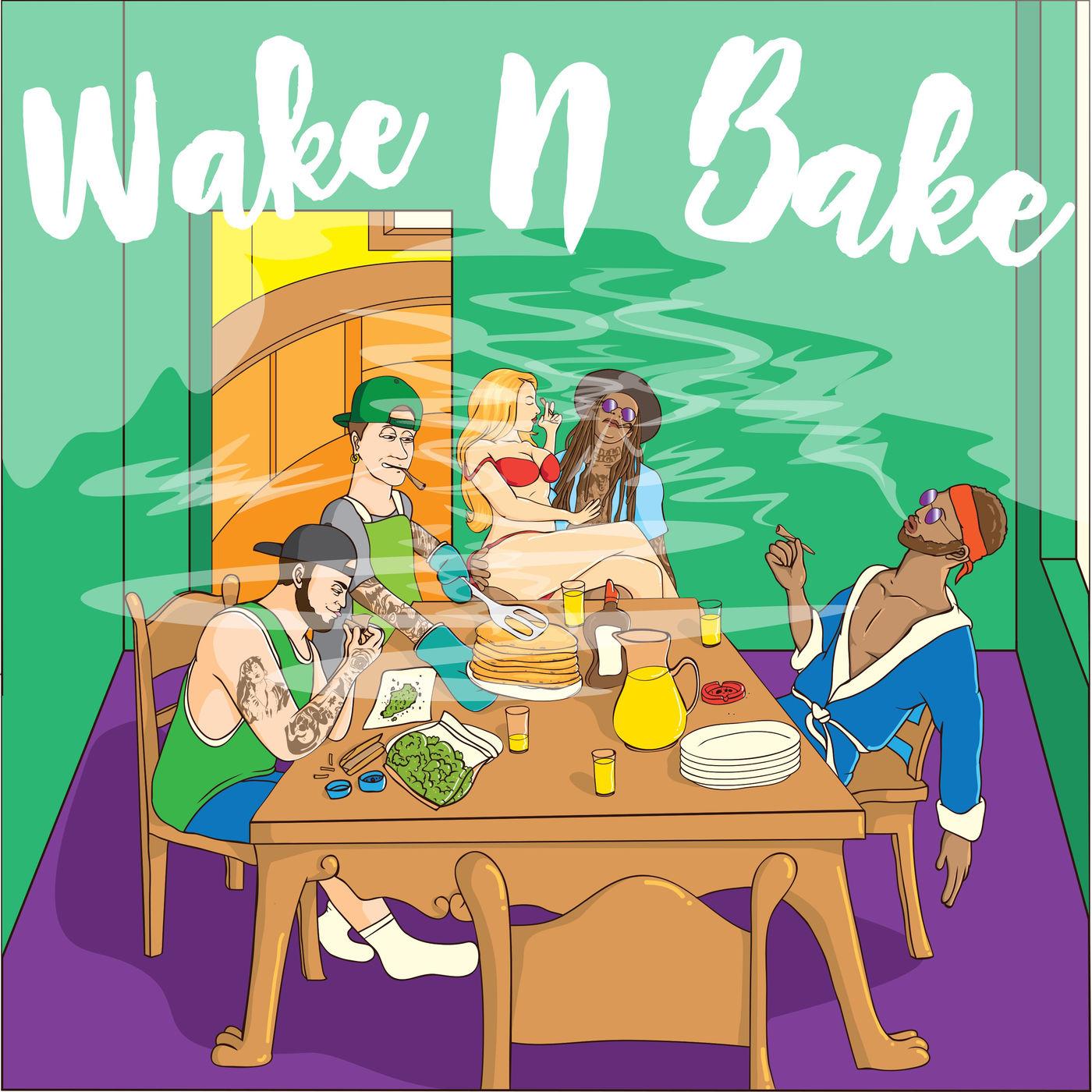 Goodtimes x Garage - Wake n Bake (feat. Ty Dolla $ign, Nathan Palmer, Abe Arnold & Joey Stylez) - Single Cover