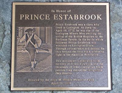 Prince Estabrook, The Battle of Lexington and Concord, April 19, 1775