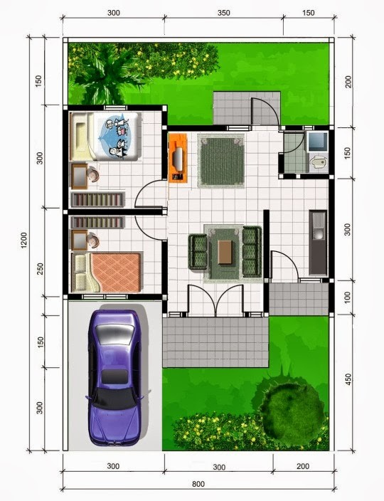 gambar denah rumah sehat 3