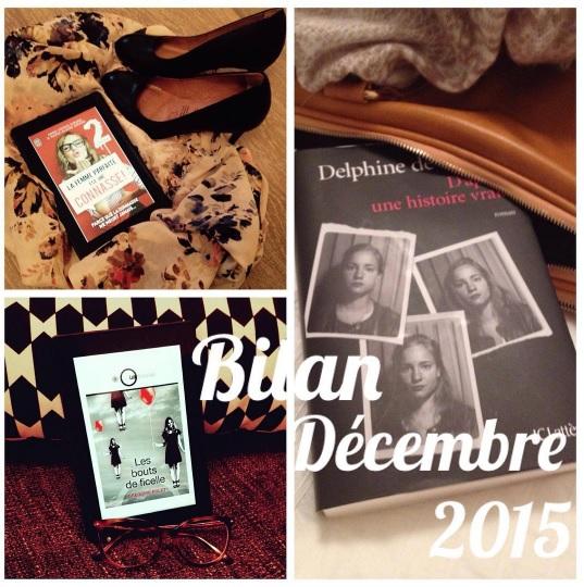 Bilan du mois - Décembre 2015