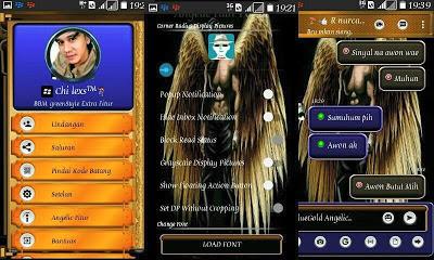 BBM Mod Blue Gold Angelic v3.1.0.13 Apk Terbaru