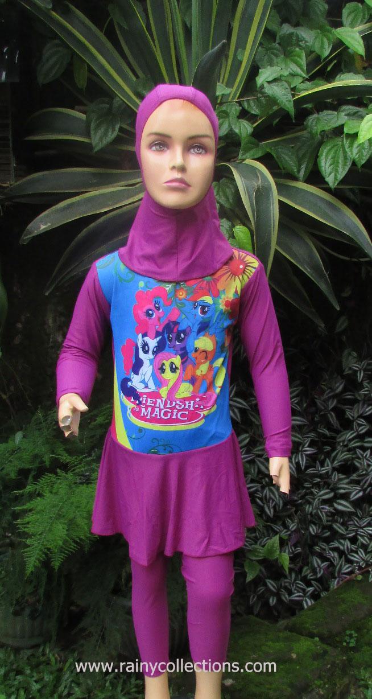 Rainy Collections Baju Renang Muslim Anak Berkarakter Perempuan Poni Muslimah Karakter Aikatsu Bergambar Princess Dalam Film Dengan Warna Dasar 2 Pilihan Yaitu Pink Dan Biru Yang Pasti