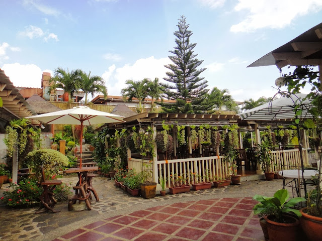 Al fresco dining area of RMS Restaurant in Tagaytay