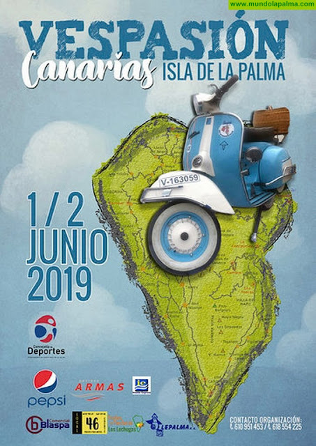 """Santa Cruz de La Palma acoge el """"Vespasión Canarias 2019"""""""