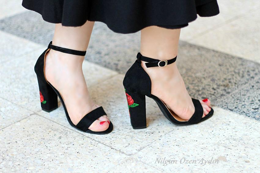 alışveriş-nakışlı sandalet-moda blogu-fashion blogger