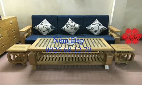 bọc nệm ghế sofa gỗ 32