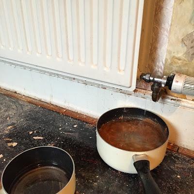 draining a radiator
