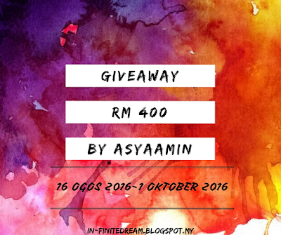 Giveaway RM400 by AsyaAmin!