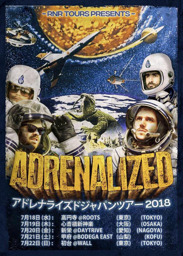 Adrenalized announce Japan Tour 2018