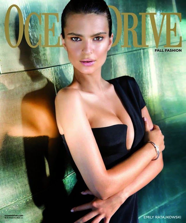 Blurred Lines' Emily Ratajkowski covers Ocean Drive September 2014