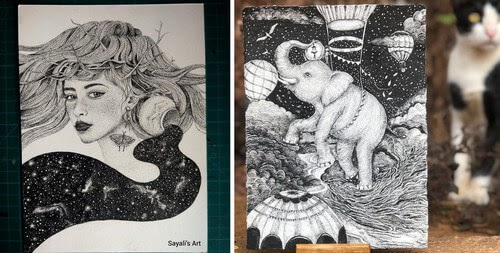 00-Sayali-Horambe-Stippling-Fantasy-Art-Drawings-www-designstack-co