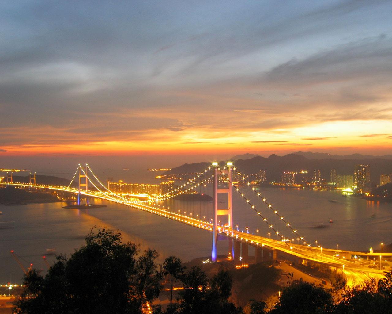 Beautiful Bridges: Tsing Ma Bridge Wallpapers