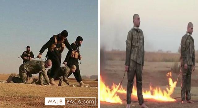 ISIS Bakar 2 Tentara Turki Hidup-Hidup, sebelumnya Mereka Merangkak Diseret Digurun Pasir