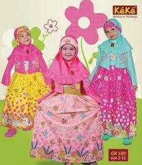 Model Baju Muslim Gamis Pesta Untuk Anak Perempuan Terbaru