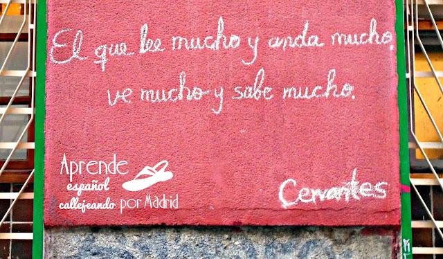 cervantes en los muros de madrid