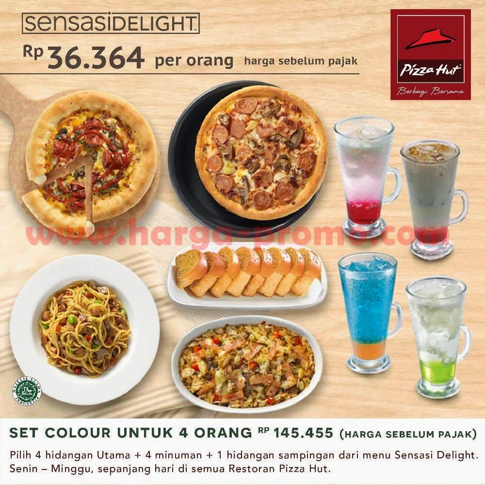Promo Pizza Hut Sensasi Delight SET COLOUR Hanya Rp36.364 Setiap Hari ~ promosi katalog