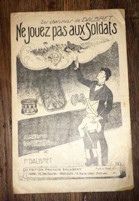Ne Jouez pas aux Soldats, partition de Paul Dalbret (ebay.fr)