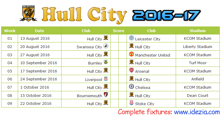 Download Jadwal Hull City AFC 2016-2017 File JPG - Download Kalender Lengkap Pertandingan Hull City AFC 2016-2017 File JPG - Download Hull City AFC Schedule Full Fixture File JPG - Schedule with Score Coloumn