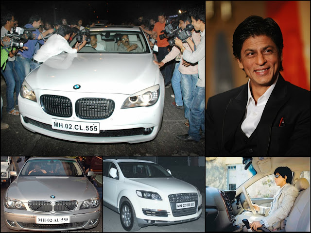 Shah Rukh Khan's cars with lucky number 555