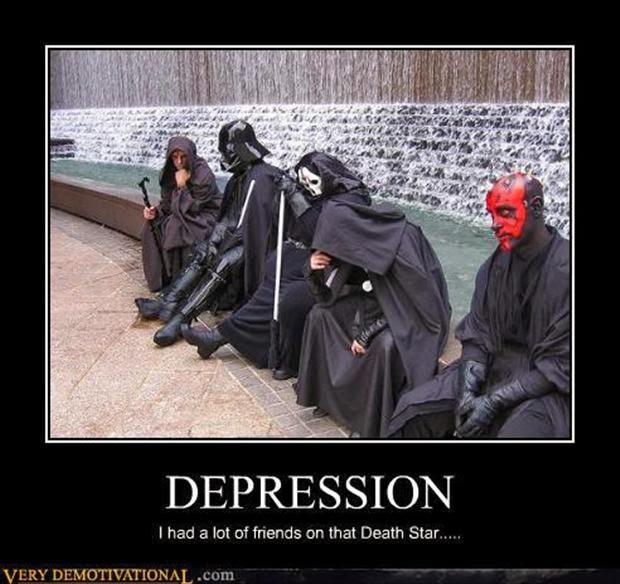 Malos de Star Wars tristes