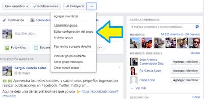 Facebook, redes sociales, social media, grupo, fan page, Vincular,