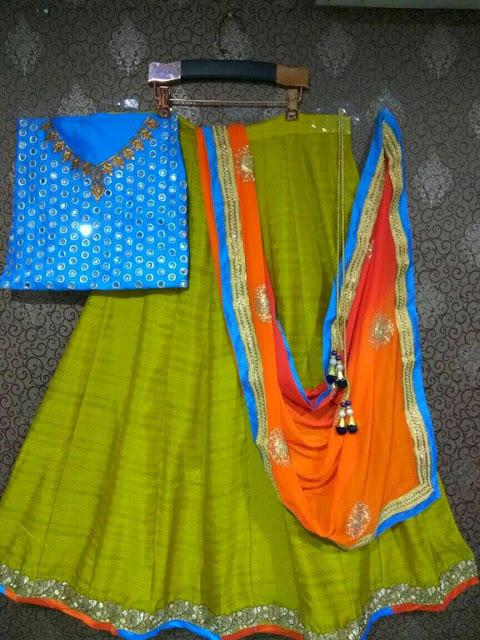 KD Semi Stitched Lehenga With Dupatta