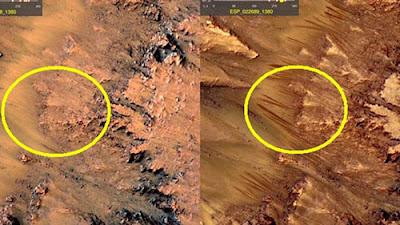 Existe um vale com Piramides em Marte