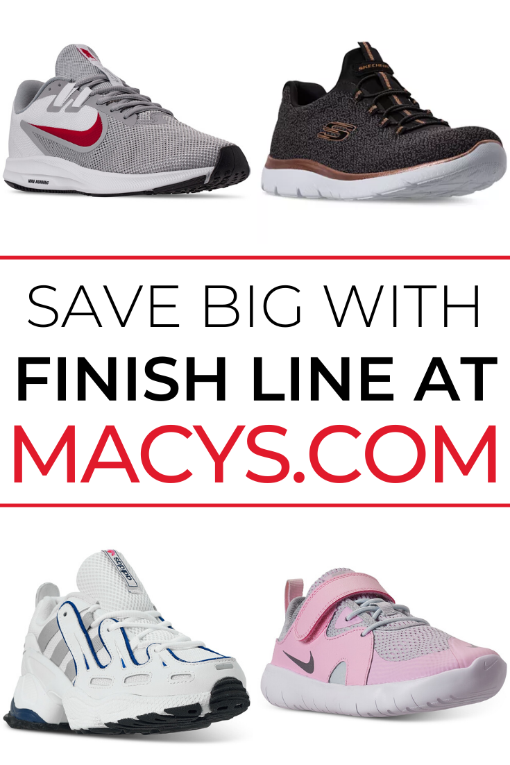 Save BIG with Finish Line at Macy's