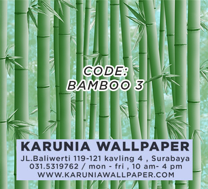 jual wallpaper motif bambu murah
