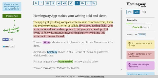 Hemingway İngilizce Yazma Alıştırmaları
