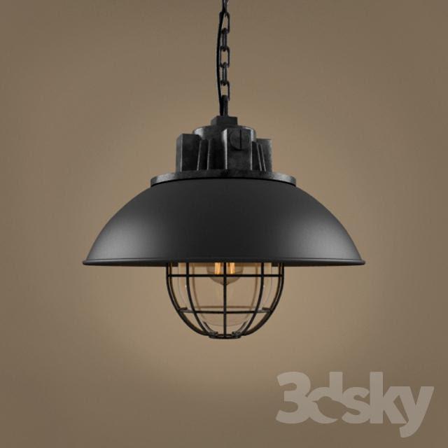 3D model free round lights