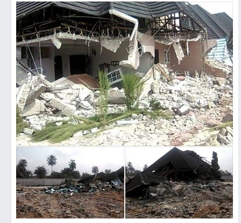 6 - See Nigeria's Number 1 Cultist, Don Waney's House Before Demolition (Photos)