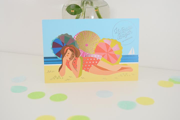 Le Beau Bazar cartes postales Les Baigneuses