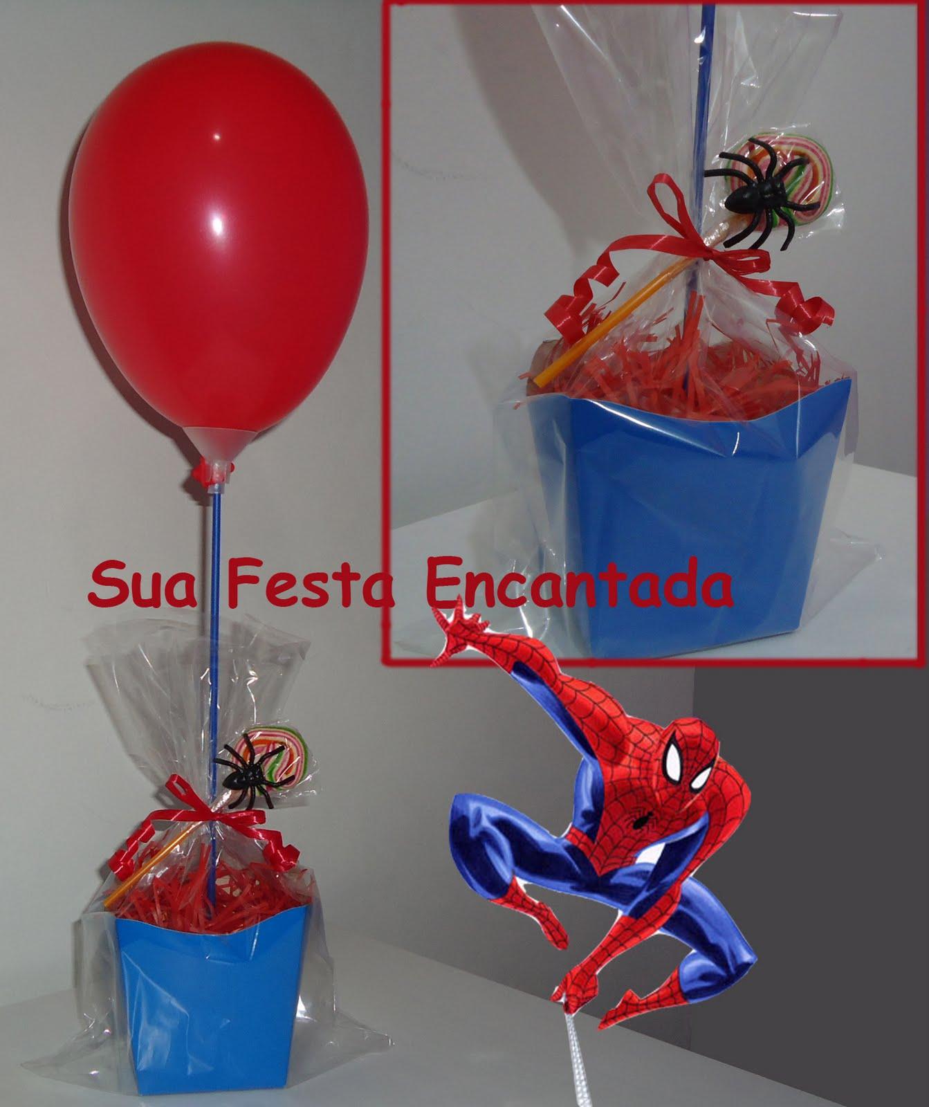 Sua Festa Encantada Homem Aranha 2 -> Enfeites De Mesa Do Homem Aranha