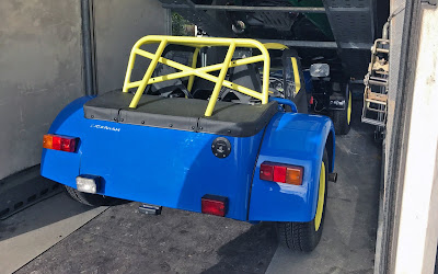 The Academy Car loaded onto the Caterham trailer going off for it's IVA presentation next week